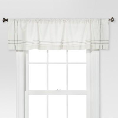 Window Valance - Cream/Gray Plaid Border - Threshold™