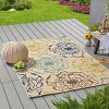 5' x 8' Adley Floral Outdoor Rug Ivory/Green - Christopher Knight Home - image 3 of 4
