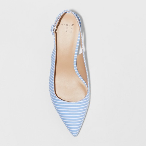 537dabf5d4de Women s Meghan Wide Width Kitten Heel Pumps - A New Day™ Blue 9.5W   Target