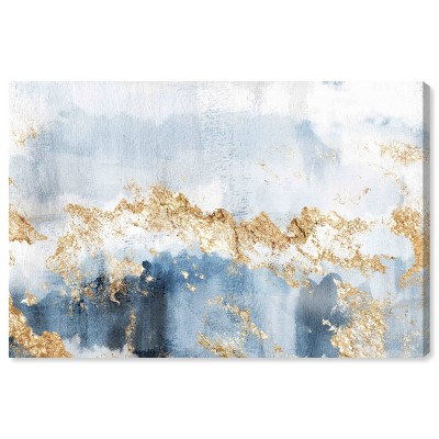 "10"" x 15"" Eight Days a Week Abstract Unframed Canvas Wall Art in Blue - Oliver Gal"