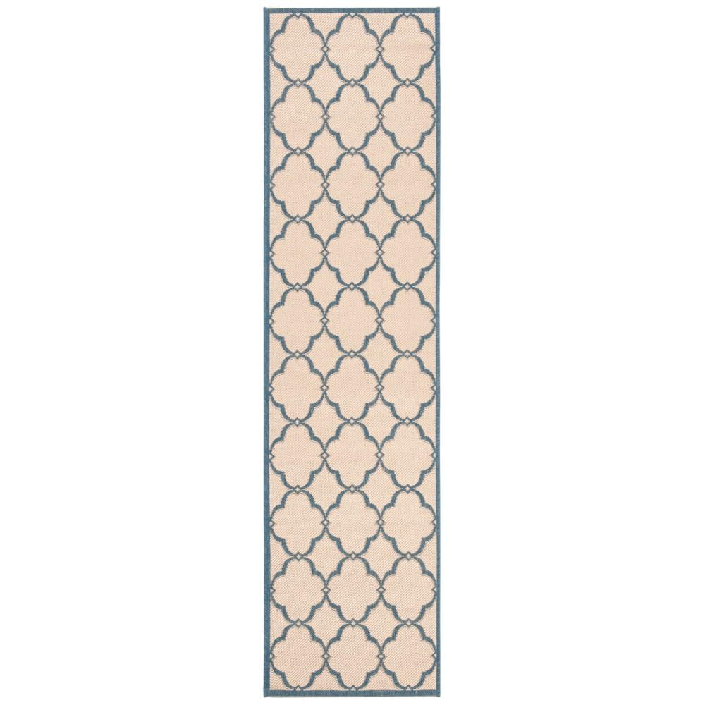 2'X8' Geometric Loomed Runner Cream (Ivory) - Safavieh