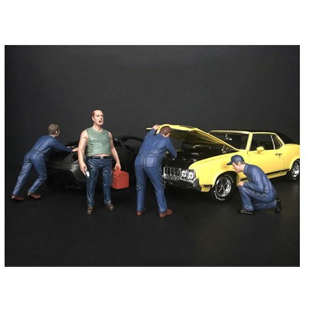 """""""Mechanic Classic"""" 4 Piece Figurine Set for 1/24 Scale Models by American Diorama - image 1 of 1"""