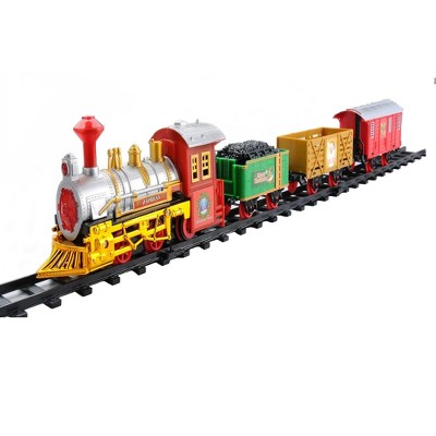 Northlight 12-Piece Battery Operated Lighted and Animated Christmas Express Train Set with Sound