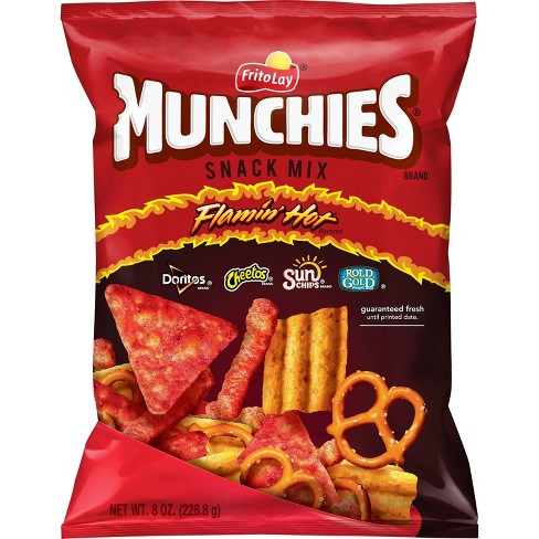 Munchies Flamin Hot Flavored Snack Mix 8oz Target