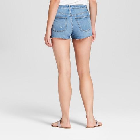 596ed2f32d67 Women's High-Rise Raw Hem Jean Shorts - Universal Thread™ Light Wash ...