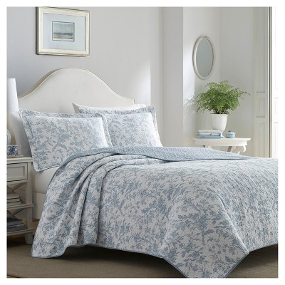 Blue Amberley Quilt Set (King)- Laura Ashley®