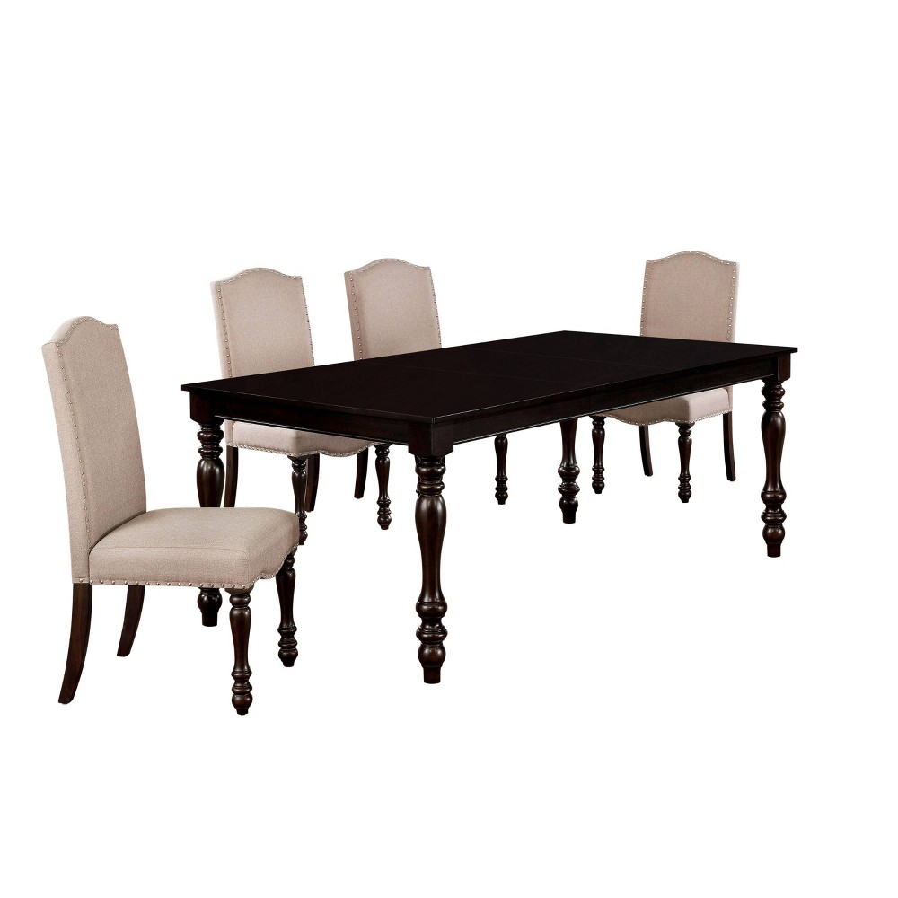Reviews 5pc Stafford Dining Set Dark Brown - HOMES: Inside + Out