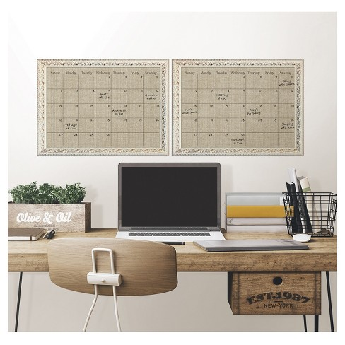 Wall Pops! ® Dry Erase Calendar Decal with Antique Frame - Canvas ...