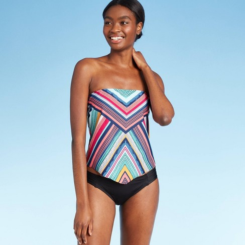 Women's Bandeau Tankini Top - Kona Sol™ Stripe - image 1 of 4