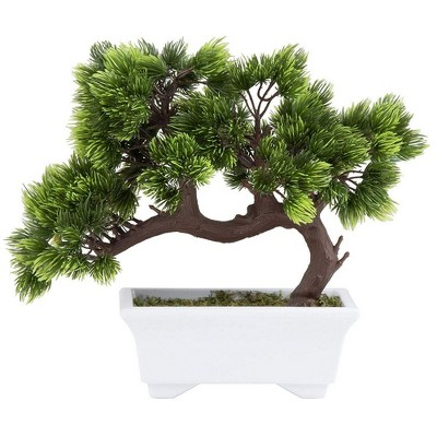 Juvale Artificial Bonsai Tree - Fake Plant Decoration, Potted Artificial House Plants, Japanese Pine Bonsai Plant for Decoration Display, 10.3x5x9.4""