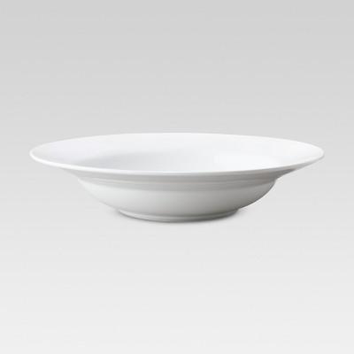 8oz Porcelain Rimmed Pasta Bowl White - Threshold™