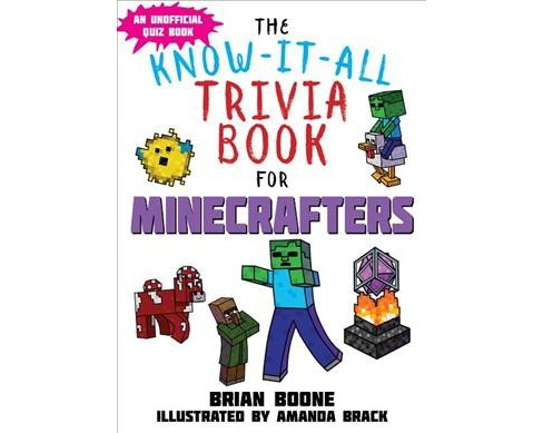 Know-It-All Trivia Book for Minecrafters : Over 800 Amazing Facts and Insider Secrets (Paperback) (Brian - image 1 of 1