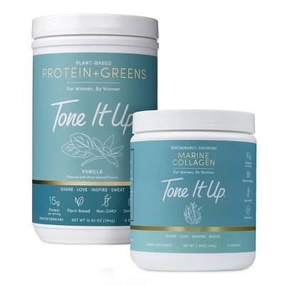 Tone It Up Protein + Greens & Collagen Protein Powder - Bundle