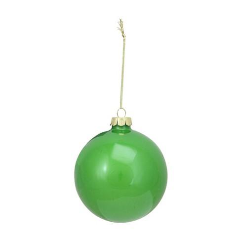 Raz Imports 4 Glass Ball Christmas Ornament Lime Green Target