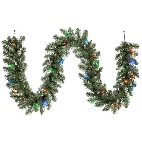 Christmas Pine Garland.Philips 9ft Christmas Prelit Led Artificial Pine Garland Bicolor