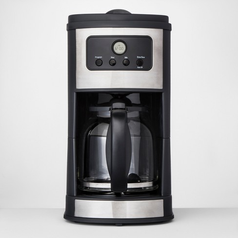 12 Cup Programmable Automatic Drip Silver Coffee Maker - Made By Design™ - image 1 of 6