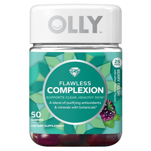 Olly Flawless Complexion Dietary Supplement Gummies - Berry Fresh - 50ct - image 1 of 4