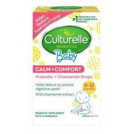 Culturelle Baby Calm + Comfort, Probiotic + Chamomile Drops - 0.29 fl oz