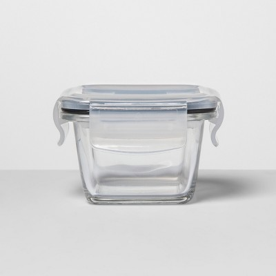 Square Glass Food Storage Container .85 cup - Made By Design™