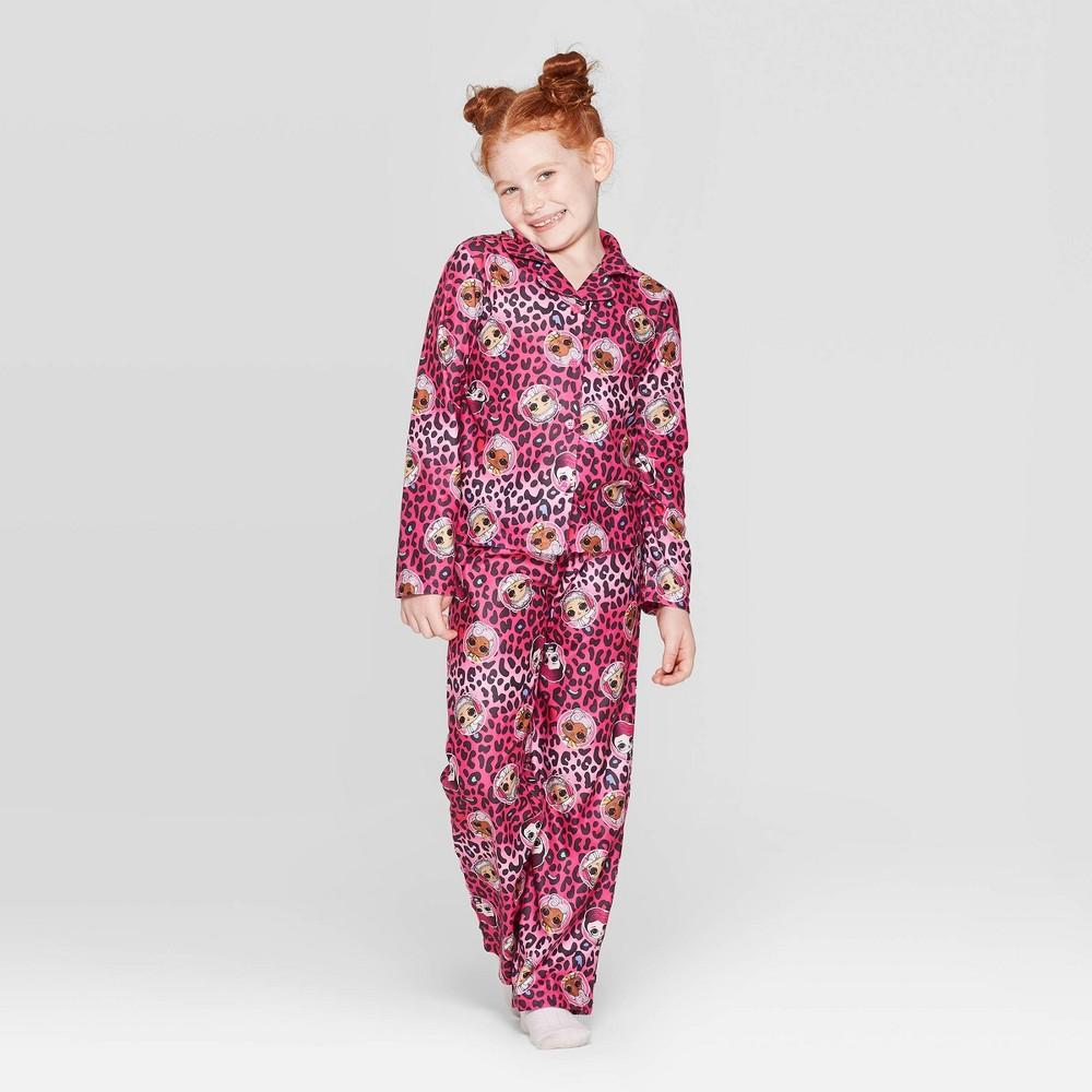 Image of Girls' L.O.L. Surprise! 2pc Coat Pajama Set - Pink 10, Girl's