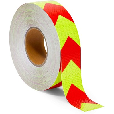 Stockroom Plus Waterproof Reflective Safety Tape, Yellow and Red (2 in x 160 Ft)