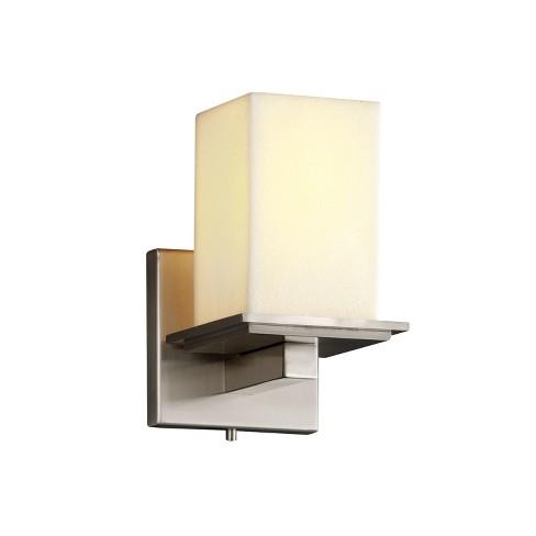 Justice Design Group CNDL-8671-15-CREM CandleAria 1 Light Bathroom Sconce - image 1 of 1