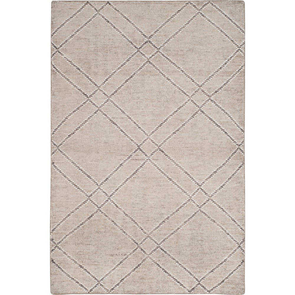 4'X6' Geometric Knotted Area Rug Khaki/Gray (Green/Gray) - Safavieh