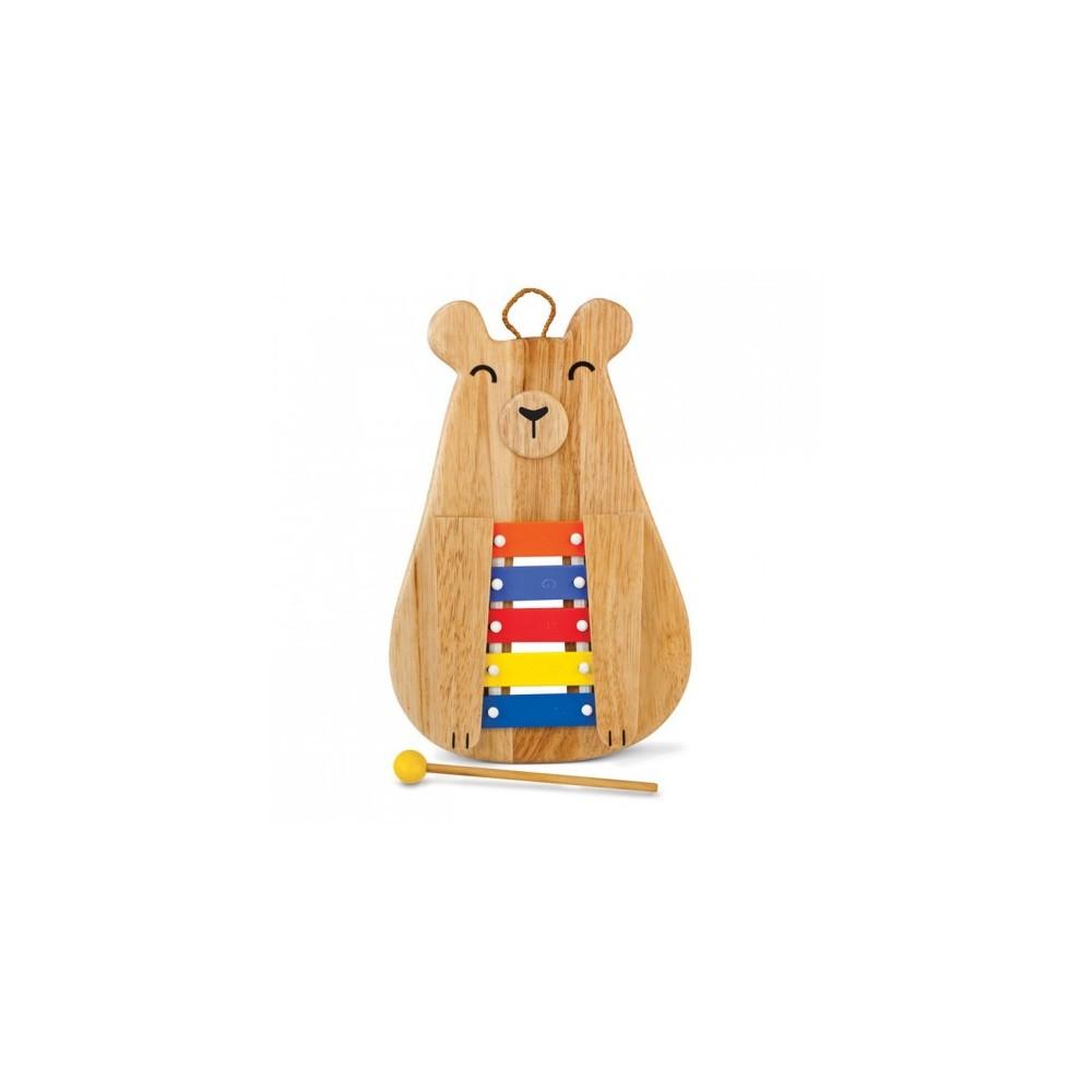 Hohner Green Tones Papa Bear Glockenspiel, Multi-Colored
