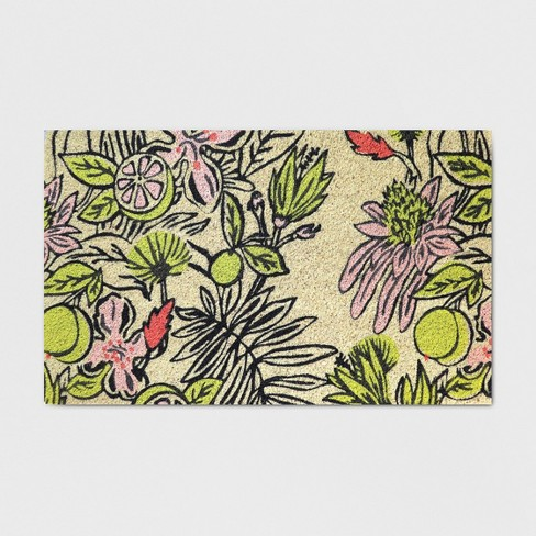 "18"" x 30"" Party Floral Outdoor Doormat - Opalhouse™ - image 1 of 1"