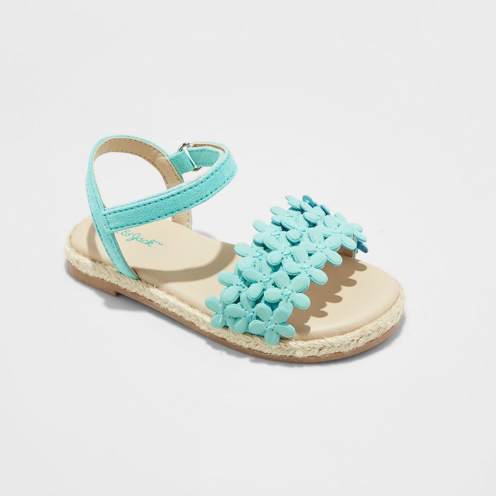 Toddler Girls' Elvie Espadrille Sandals - Cat & Jack Mint Green 12