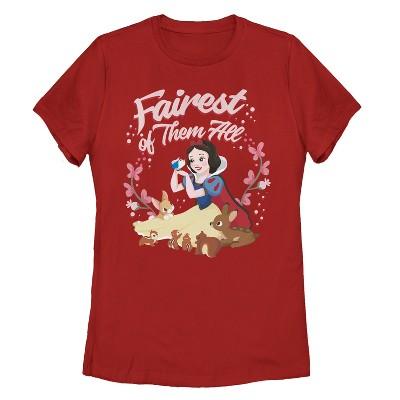 Women's Snow White and the Seven Dwarves Fairest Princess T-Shirt
