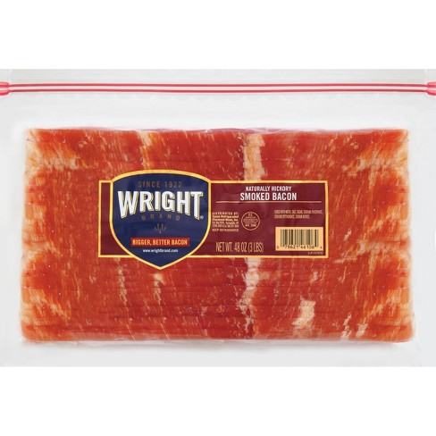 Wright Brand Bacon Hickory Smoked Bacon 4-8oz - image 1 of 2