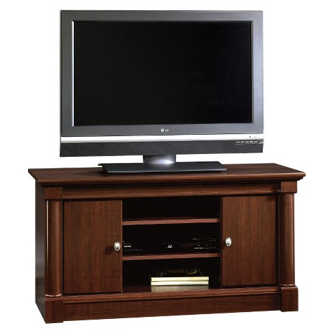 Palladia 2 Panel Tv Stand With Adjustable Shelves Select Cherry