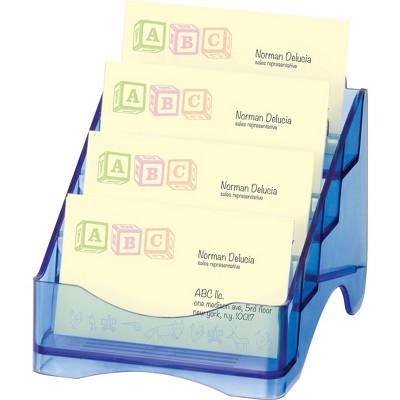 Officemate Blue Glacier Desk Accessories 4-Tier 23212