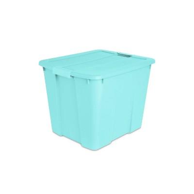 Sterilite 20gal Latching Storage Tote Aqua