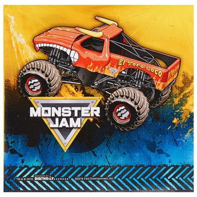 Birthday Express Monster Jam Party Supplies Lunch Napkins
