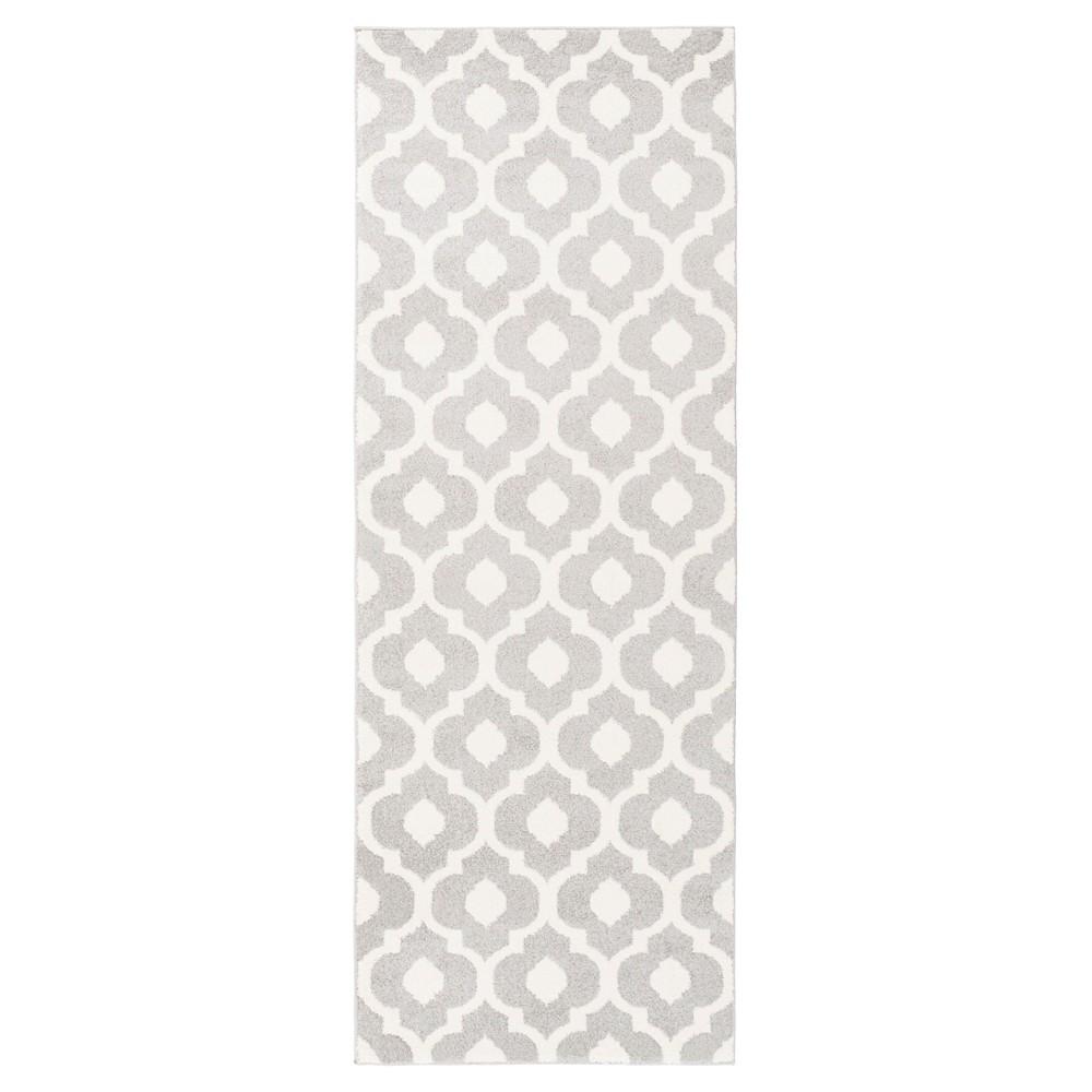 Gray Abstract Tufted Runner - (2'7X8') - Surya, Medium Gray