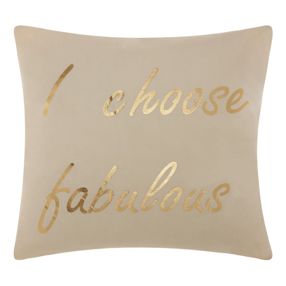 Light Off-White Letters Throw Pillow - Mina Victory
