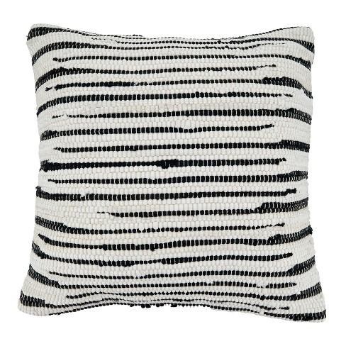14 X23 Zebra Chindi Design Cotton Throw Pillow Cover Black White Saro Lifestyle Target