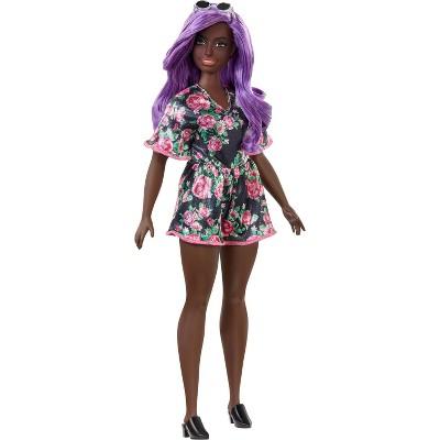 Barbie Fashionistas Doll #125 Black Floral Dress
