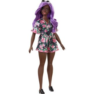 Barbie Fashionistas Doll #125 Black Floral Dress