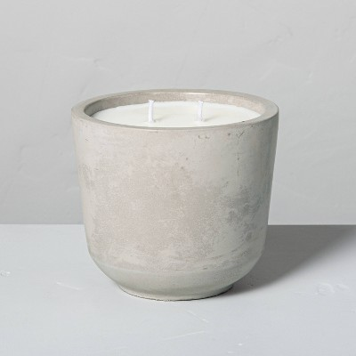 19.4oz Medium 2-Wick Citronella Cement Candle - Hearth & Hand™ with Magnolia