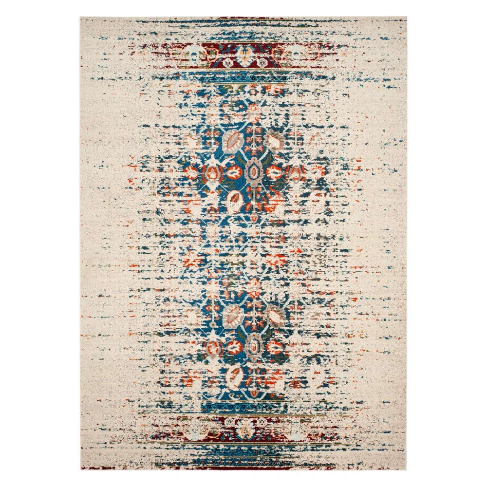 Shapes Area Rug Ivory/Blue