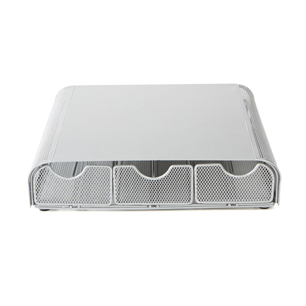Mind Reader 'Anchor' Triple Drawer 36 Capacity Metal Mesh Single Serve Coffee Pod Holder Drawer - Silver