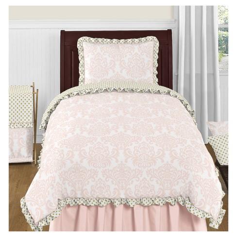 Pink & Gold Amelia Comforter Set (Twin) - Sweet Jojo Designs - image 1 of 3