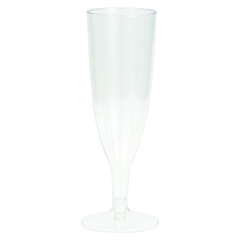 16ct Plastic Champagne Glasses - image 1 of 1