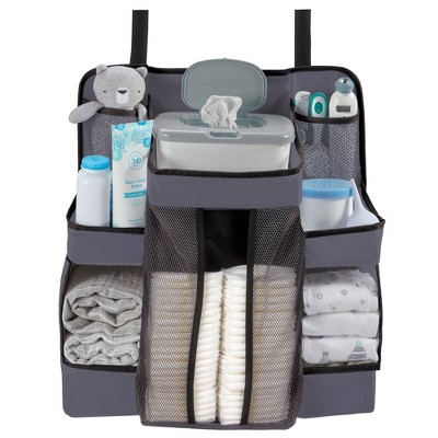 LA Baby Diaper Caddy and Nursery Organizer for Baby's Essentials - Gray