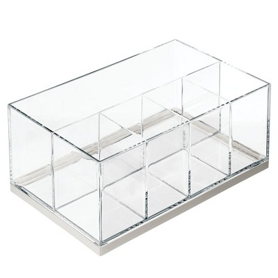 mDesign Plastic Makeup Storage Organizer with 5 Sections