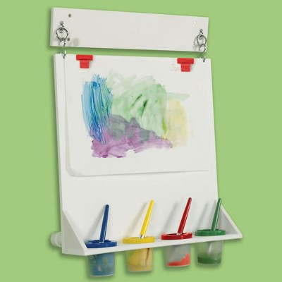 Children's Factory Space Saver Wall Mounted Paint Easel