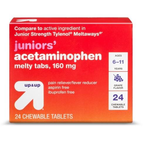 Junior Strength Acetaminophen Meltaway Tablets - Grape - 24ct - Up&Up™ - image 1 of 1